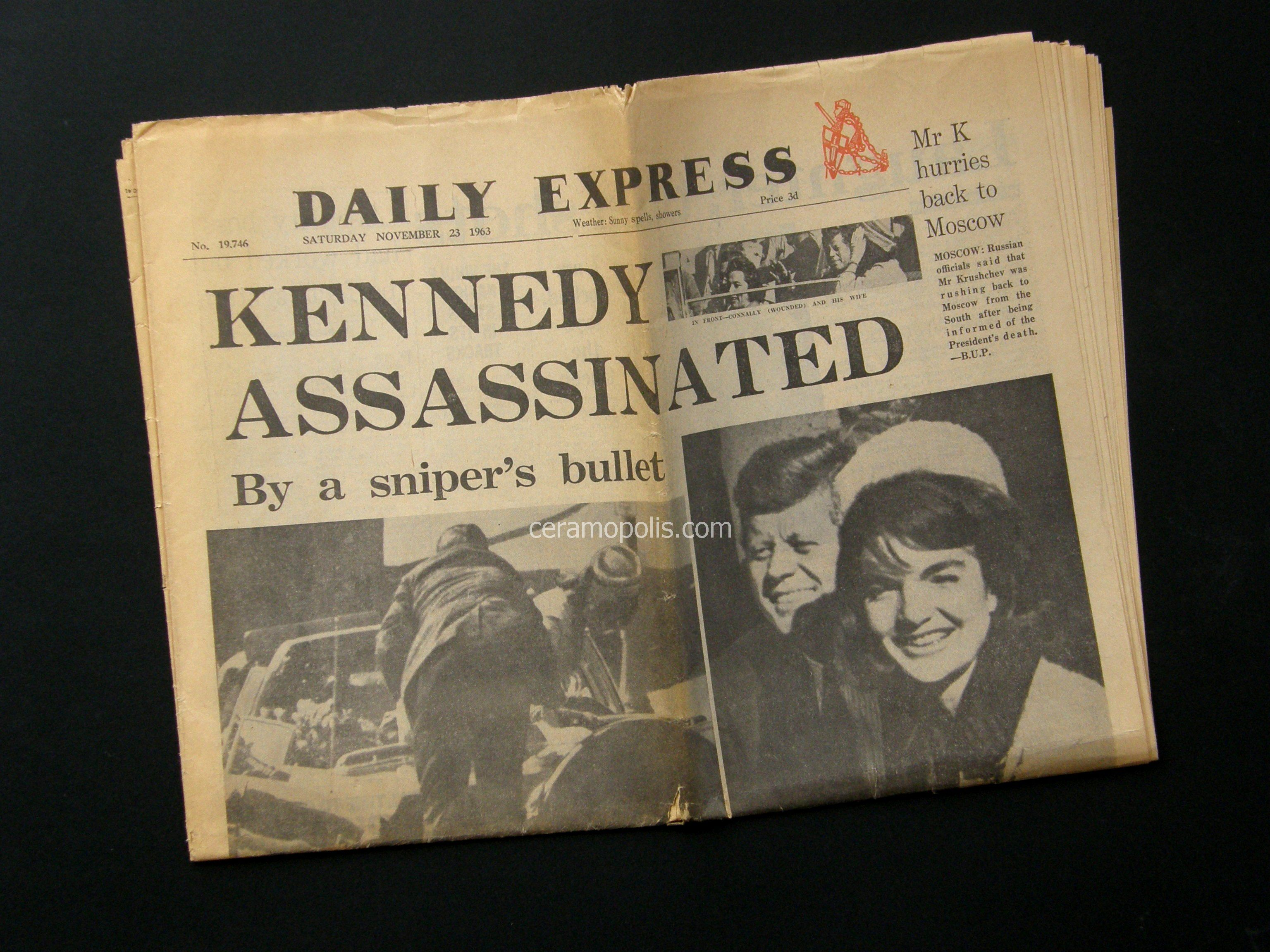 Daily Express Nov 1963 - Private Collection Athens Greece